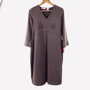 New Liz Lange Small Jersey Maternity Dress Brown S